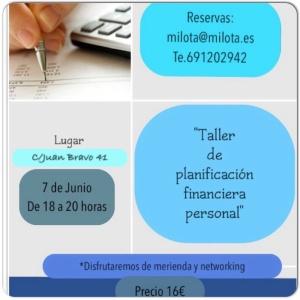 """Taller """"Planificación financiera personal"""""""
