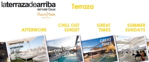 Opciones para la terraza/piscina en el hotel Room Mate Oscar