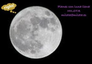 Planes con la luna llena